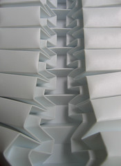 zipper (polyscene) Tags: shadow sculpture white art geometric paper paperart design 3d origami pattern bass low craft surface architectural relief polly sheet folded geometrical fold poly bas sculptural score tessellation surfaces corrugation repeat robo basrelief verity papersculpture threedimensional tessallation polypropylene scored lowrelief bassrelief craftrobo paperfold graphtec developable polyscene pollyverity developablesurface 3dpattern 3dsurface 3dtilepattern 3dfoldedpattern 3dlowreliefpattern foldedpattern foldedtessellation sculpturalsurfaces
