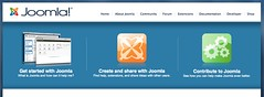 joomla.org, three simple buttons