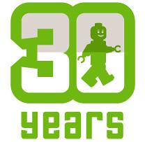 Minifig 30th Birthday Logo (Dunechaser) Tags: lego contest minifig minifigs thebrothersbrick brothersbrickcom gominimango