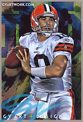 Brady Quinn original artwork (G V Art and design) Tags: pencil painting artwork drawing cleveland nfl quarterback notredame browns quinn brady clevelandbrowns runningback bradyquinn jimbrown sportsart bradyquinnartwork footballdrawings