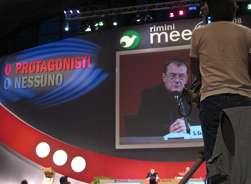 Archbishop Paolo Pezzi of Moscow at Meeting 2008, Rimini