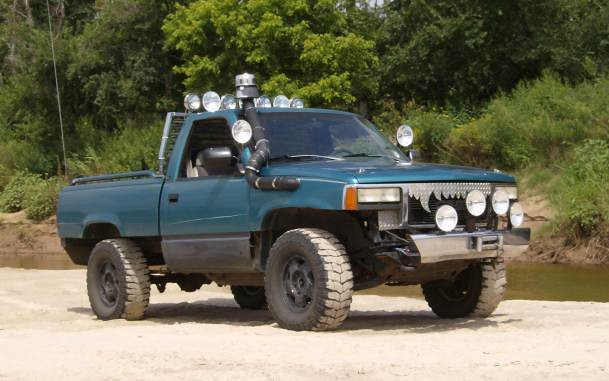oklahoma water truck river sand snorkel mud offroad 4x4 pickup gmc darkmoon riverrunning northcanadianriver