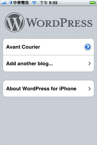 iPhone's app - WordPress (by YU-TA LEE)