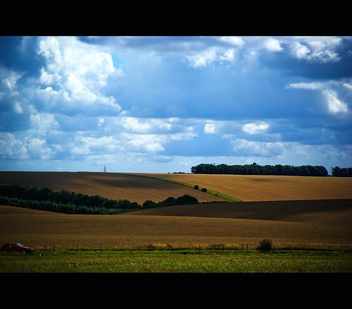 The countryside around Stonehenge