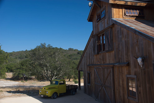The new barn and our 1949 Ford Truck, Tweety Bird.