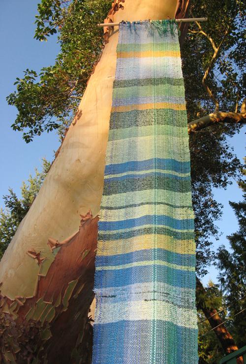 Blue & Green Saori Weaving