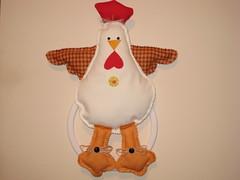 porta pano prato (dinorahramos) Tags: galinha fuxico portapanoprato
