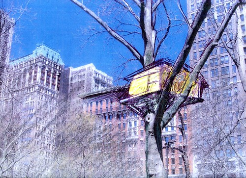 madison square park, tadashi kawamata, madison square tree huts, urban art, art installations