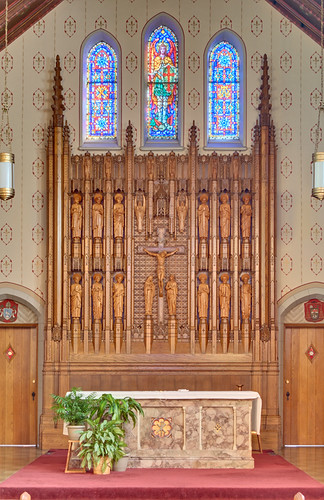 Saint Michael the Archangel Roman Catholic Church, in Shrewsbury, Missouri, USA - altar