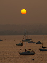 Sun up (ExeDave) Tags: uk england sun sunrise river landscape boats dawn estuary september explore devon gb yachts waterscape exe morining starcross naturesfinest blueribbonwinner interestingness500 exeestuary teignbridge golddragon anawesomeshot moreorlessastaken