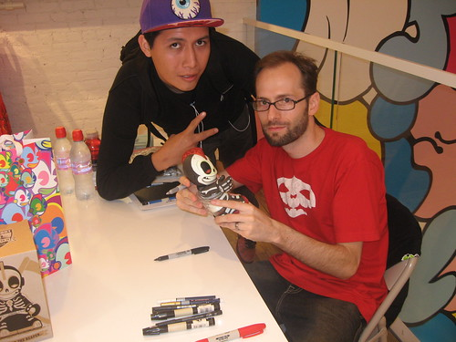 Andrew Bell signing in kidrobot new york