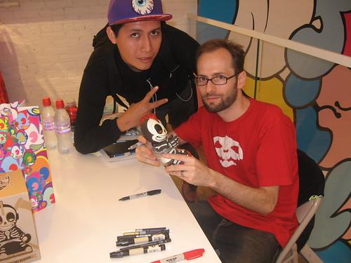 Andrew Bell signing in kidrobot new york