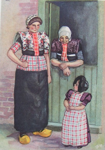 Dutch old traditional clothes