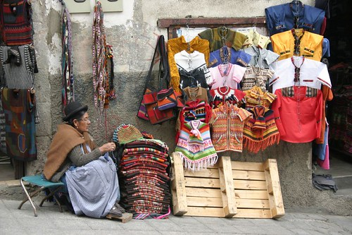 Street vendor in La Paz.
