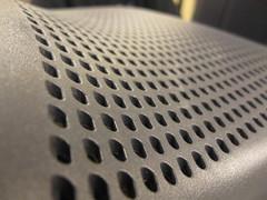 monitor (Maʝicdölphin) Tags: macro canon silver vent pattern powershot monitor a590