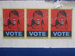 Sarah Palin Frightening Prospect Paste-Ups