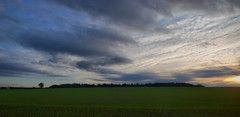 Sky (Nevica) Tags: leica cambridge sunset red sky panorama colour clouds lumix panasonic fields hdr ih wandlebury dmclx2 dynamicphotohdr