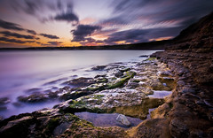 Filey, East Yorkshire Coast (Corica) Tags: longexposure greatbritain sunset england landscape nikon rocks yorkshire sigma wideangle northsea gb filey d300 sigma1020 corica dapagroup dapagroupmeritaward nikond300