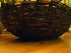 nov 028 (sarahracha) Tags: green spiral basket recycled woven coil weave plasticbags plarn