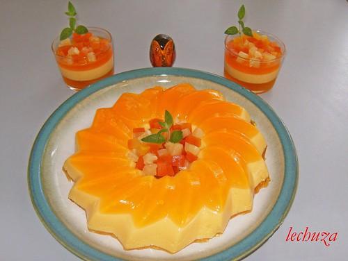 Bavarois de mango-tarta y copas
