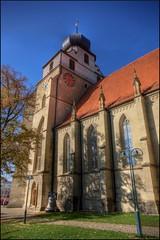 Stiftskirche, Herrenberg, Germany (@richlewis) Tags: tower clock church canon germany deutschland eos bell gimp noiseninja turm hdr herrenberg stiftskirche photomatix sigma1020mmf456 450d