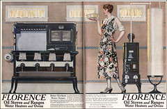 1923 Coles Phillips Ad for Florence Range (American Vintage Home) Tags: 1920s kitchen illustration vintage advertising florence 1923 ladieshomejournal ccolesphillips