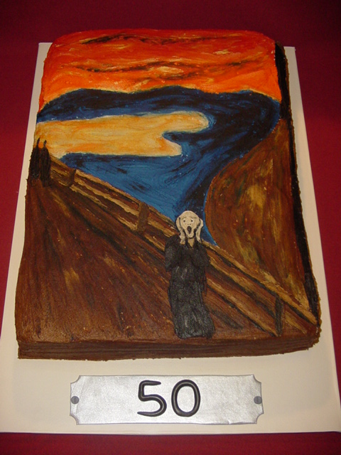 The Scream 50th Birthday Cake