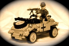 """Elsa"" The Kubelwagen (The Ranger of Awesomeness) Tags: vw lego wwii german elsa kubelwagen brickarms"