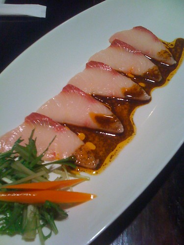 Course 3: Hamachi with Special Sauce (Rendered Bacon Fat Base)