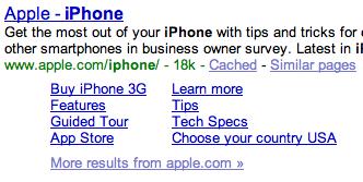 Google Sitelinks for Directories