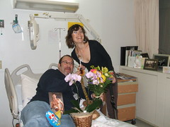 Boss Man and Cow Woman (Neuro Detour) Tags: friends work hospital tmx transverse permacath myelitis