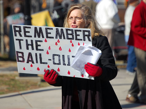 protesting the bailout
