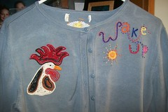 embroidery: wakeup (Shosh62) Tags: embroidery