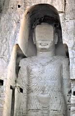 gm_03103 Bamiyan Buddha Statue, Afghanistan 1975 (CanadaGood) Tags: people sculpture white afghanistan color colour statue analog person shrine asia buddha buddhist buddhism slidefilm afghan 1975 kodachrome taliban seventies bamiyan canadagood slidecube
