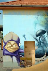 in progress (mrzero) Tags: art water animal wall writing graffiti paint hungary action character name eger under spray just human octopus spraypaint este graff jam mrzero