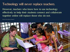 Technology will never replace teachers (Scott McLeod) Tags: quotes slides powerpoint mcleod snippets scottmcleod