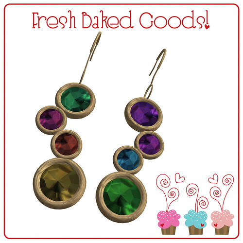 ~*Fresh Baked Goods*~ Bright Sugar Thumprint Cookie Earrings