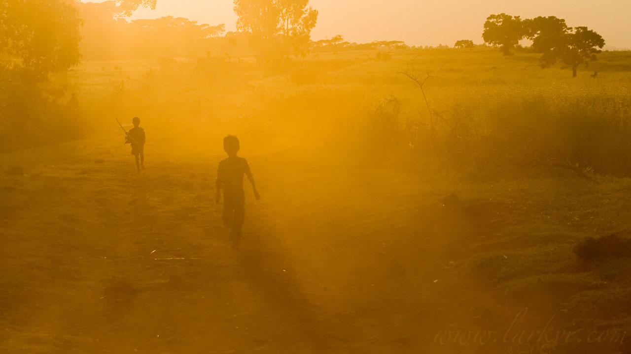 Running Children, Bichena, Gojam, Ethiopia, November 2008