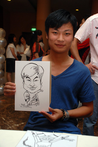 Caricature live sketching for Nippon Express Singapore Pte Ltd - 6