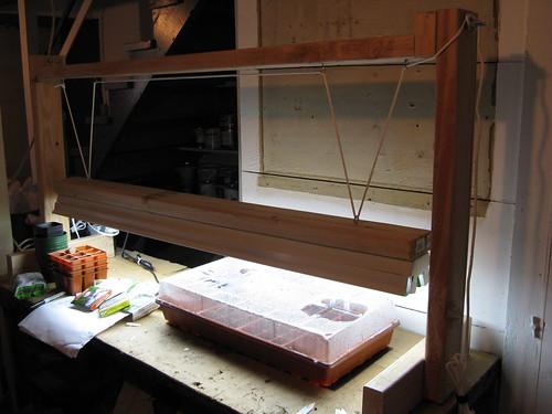 Diy Grow Light Pulley System Diy Light Stand And Heat Mat