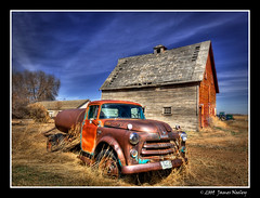 A Favorite Location (James Neeley) Tags: barn rural landscape bravo idaho oldtruck hdr idahofalls photomatix 5xp jamesneeley eisf2009