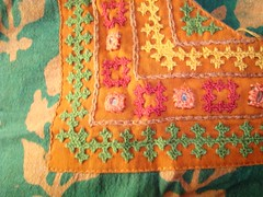 kutchwork on green tunic-neck closeup (jizee66even this will pass away) Tags: shisha embroidery border owndesign kutchwork neckpattern