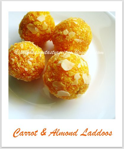 Carrot & Almond Laddoos