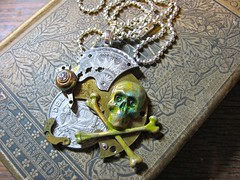 Yo Ho Ho (lisby1) Tags: vintage skull costume coin cosplay handmade oneofakind ooak victorian jewelry fantasy pirate scifi sciencefiction etsy custom recycle clockworks artisan larp steampunk neovictorian upcycle indiedesigner womanmade indieartist clockpunk tatterpunk bigcirclesteampunkemporium