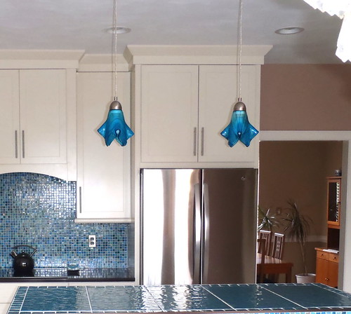 Turquoise Blue Med Kitchen Island Pendant Lights  a photo on
