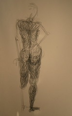 wired figure, gesture