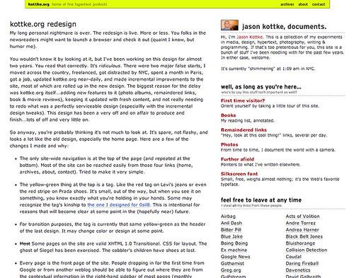 kottke.org, circa 2004