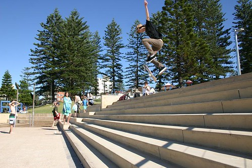 Young skateboarders in Dee Why, Sydney.