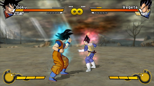 Dragon Ball Z Burst Limit pelea Goku con Vegeta
