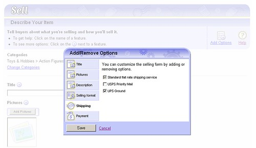 ebay form overlay